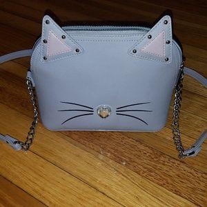 Lilac betsey johnson cat crossbody